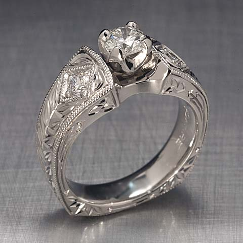 custom white gold ring